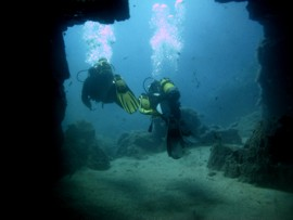Explore caves and arches in the El Cabron Marine Reserve