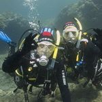 Couple of scuba divers underwater in Gran Canaria