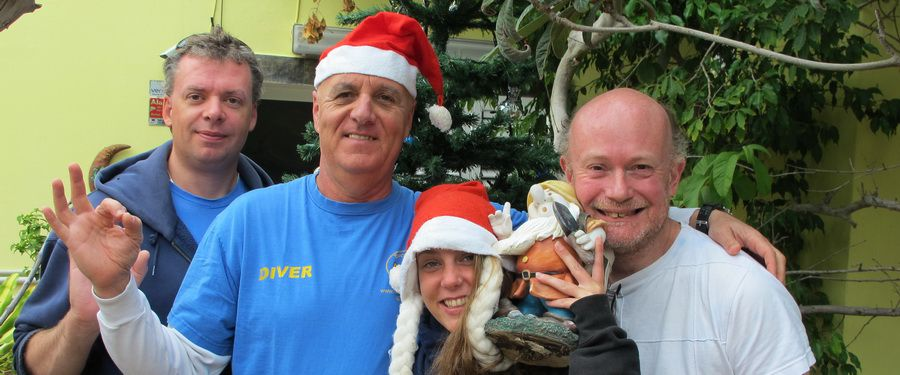 Dive centre gran canaria at Chrristmas and New Year